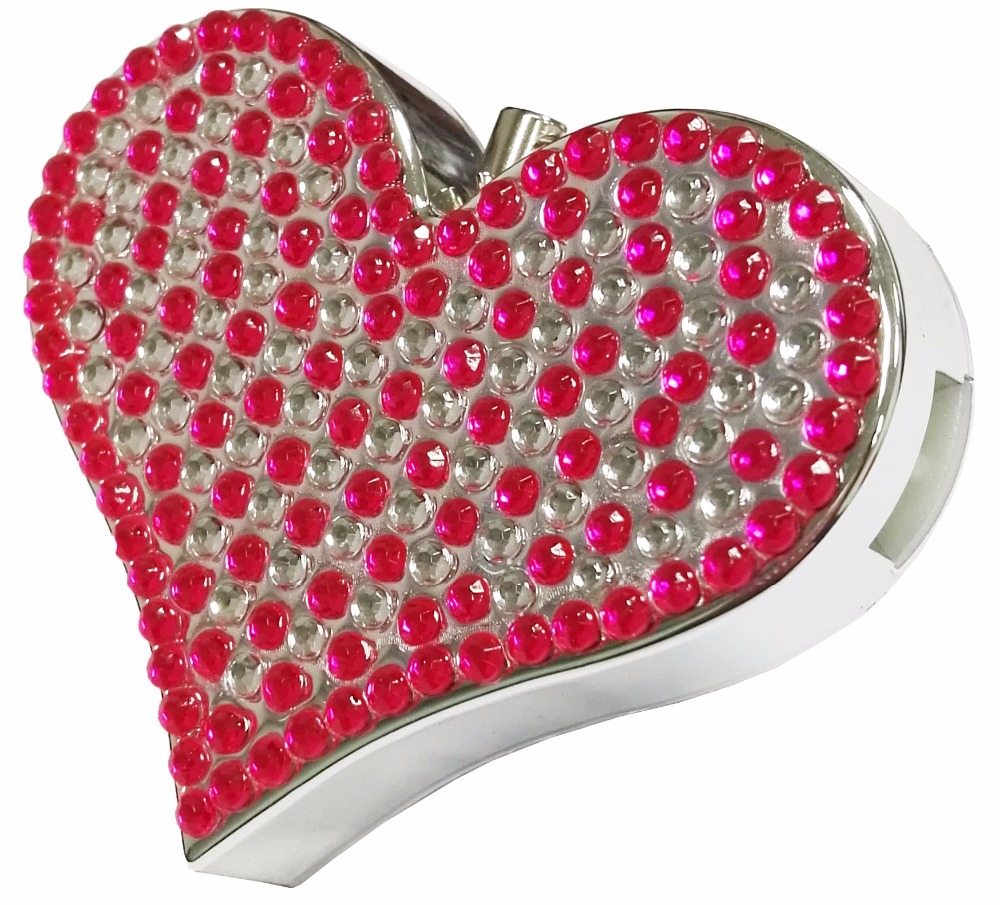 Nice Heart-shaped With Diamond Zipper Alarm Personal Anti-wolf Thief Anti-robbery Defensive Self-defense Safety Alarm Sale