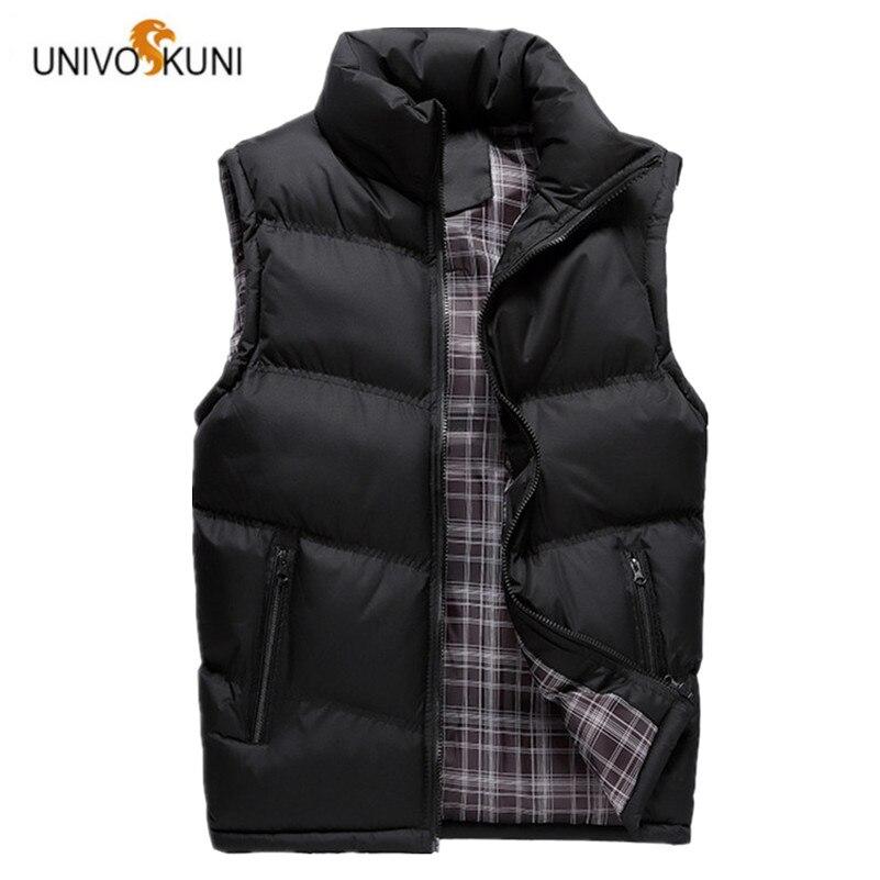 100% QualitäT Univos Kuni Neue 2017 Herbst Winter Mann Westen Freizeit Mode Feder Baumwolle Warme Ärmellose Jacken Mann Oberbekleidung Mäntel Q5159