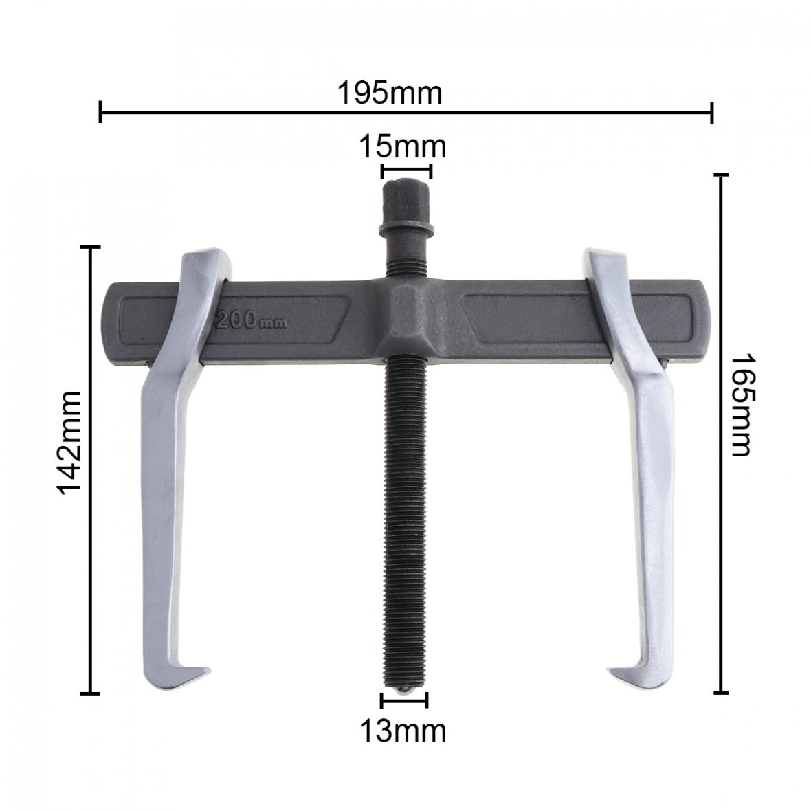 Tools : 8 Inch Single Hook CR-V Two Claws Puller Separate Lifting Device Strengthen Bearing Puller Rama for Auto Car Repair Hand Tools