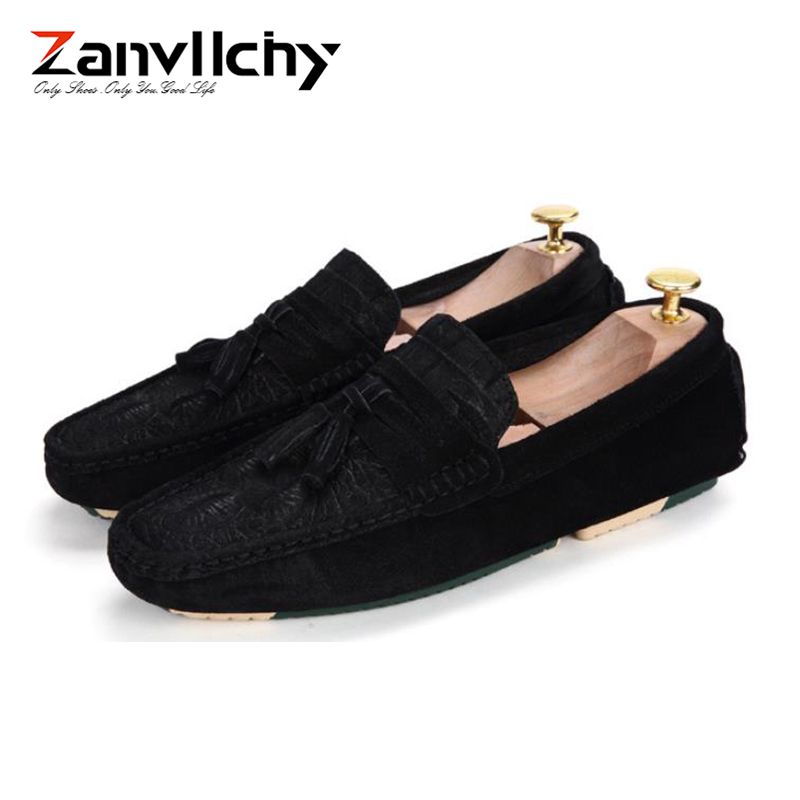 Zanvllchy Luxury Loafers Men Crocodile Mocassin Homme Spring Summer Brand Mocasines Hombre Genuine Leather Boat Shoes for Male 4
