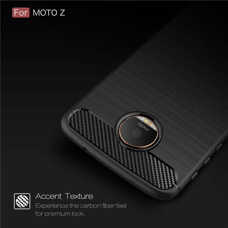 Hybrid Armor Case For Motorola Moto Z Moto Z Play Moto G6 G7 Z2 Z3 Z4 Moto G5 Plus Carbon Fibre Soft Silicone Phone Case Coque in Fitted Cases from Cellphones Telecommunications