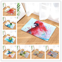 New Oil Birds Patte Mats Fashion Rectangular Mats 40*60cm Entrance Doormats Washable Kitchen Mats for Home Floor Bathroom