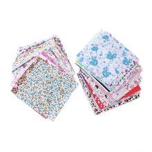 30/50/60pcs Floral Cotton Fabric Bundle Patchwork Sewing Quilting Tissue Cloth Crafts DIY 10x10cm 100pcs 10x10cm square floral cotton fabric diy sewing doll quilting patchwork textile cloth bags crafts