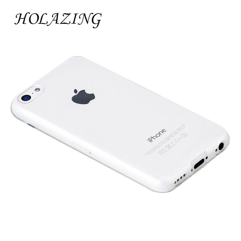 Holazing оптовая продажа прозрачный гель ТПУ Резиновая Мягкий силиконовый чехол для iPhone 5C ультра тонкий защитный кожного покрова