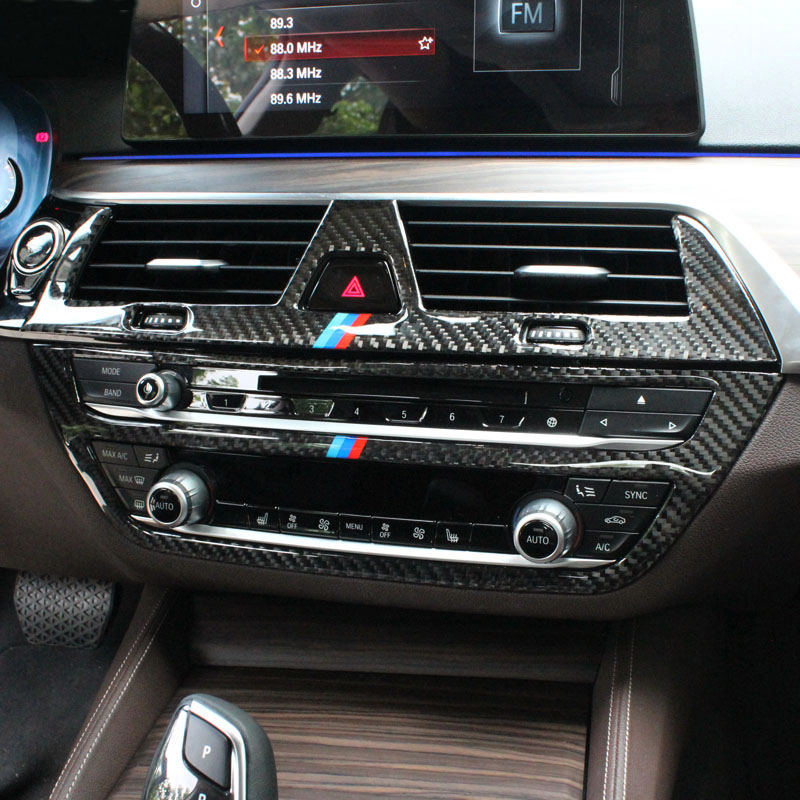 For BMW G30 G38 6GT Carbon fiber Interior Control CD Panel Cover Trim Air conditioning Outlet Frame Decoration Trim Accessories