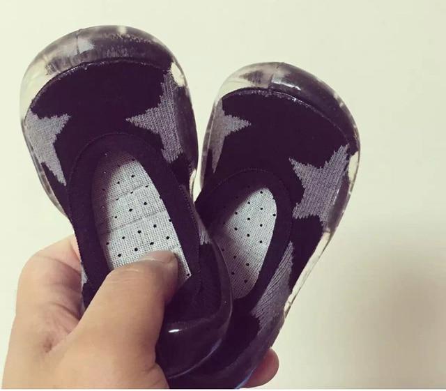Nununu Baby Moccasins Baby Girl Summer Shoes Pattern Cross Star Baby Boy Girls Soft Shoe Infant  Size 12.5cm to 16.5cm Cicishop