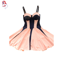 UCHIHA LQ 2017 New Design Pink And Blue Patchwork Sling Piece Swimsuit A Swimsuit For Girls