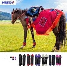 Купить с кэшбэком Hisea Horse Riding Boots paardensport cavalo equestrian herraduras para caballo Horse Feet Protector Horsemanship High Elastic