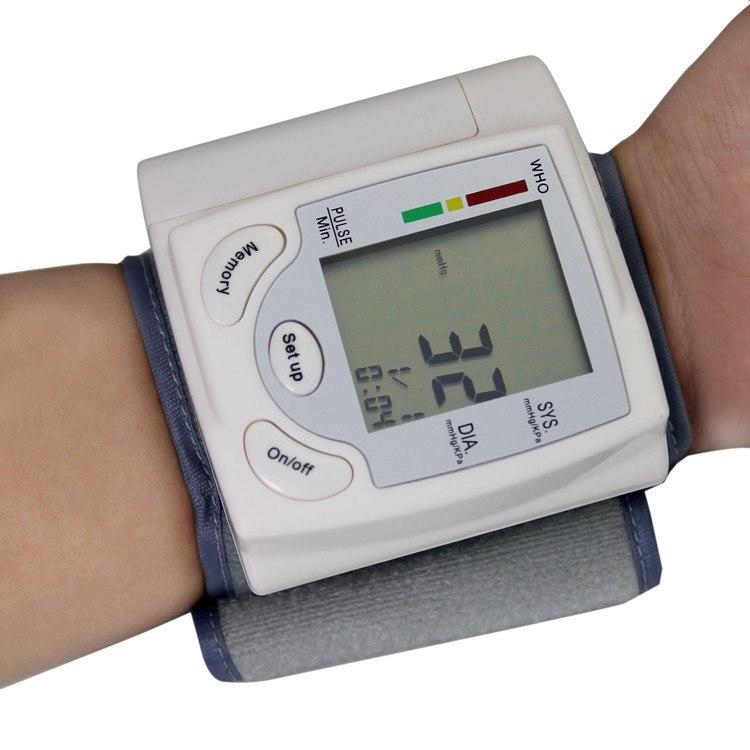 Gustala Automatic Digital Sphygmomanometer Wrist Cuff Arm Blood Pressure Monitor Meter Gauge Measure Portable Bracelet Device 24