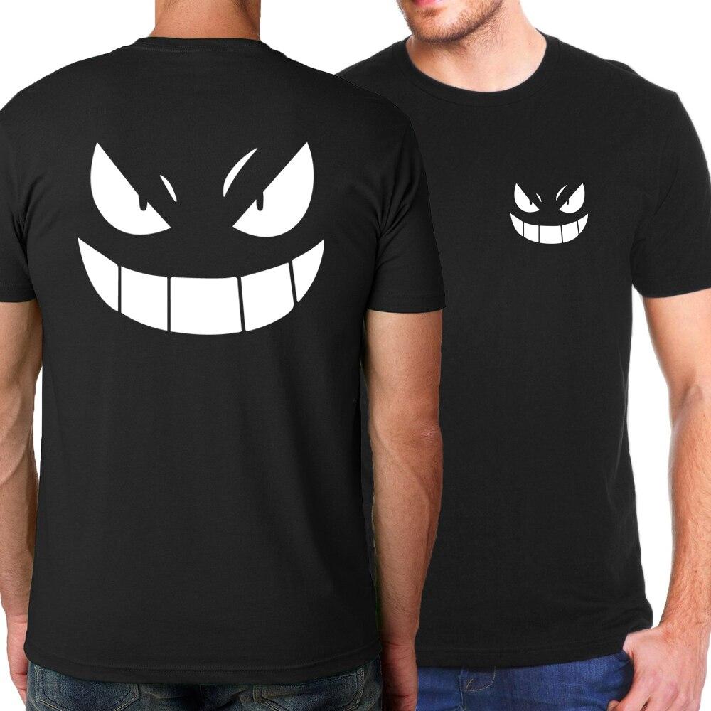 2019 Summer Japanese Anime Pokemon Men T-Shirts One Piece Luffy/Bleach/Naruto Uzumaki/T Shirt Men 100% Cotton Harajuku T-shirts