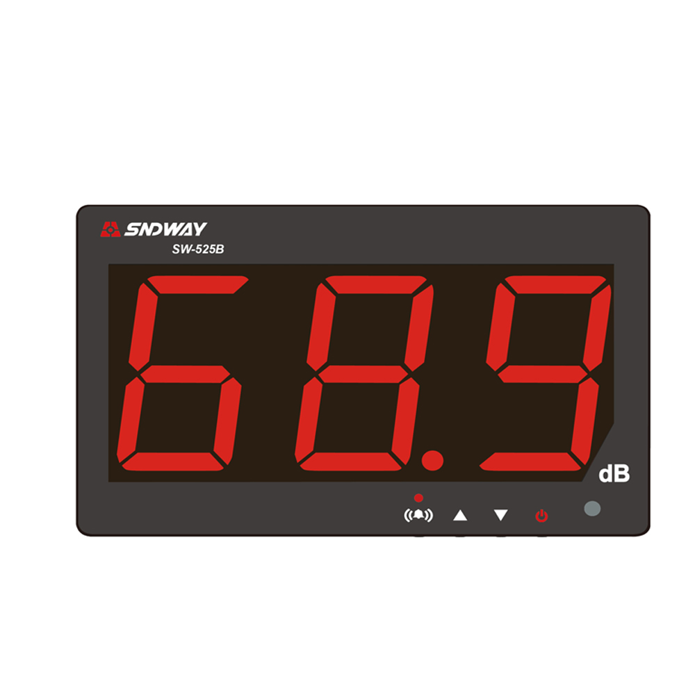 Noise meter 30~130db ,Digital Sound level meter large dispaly Restaurant Bar Indoor/office/home Wall hanging type noise tester gm1357 with carry box 30 130db digital sound level meter noise tester in decibels lcd a c fast slow db screen