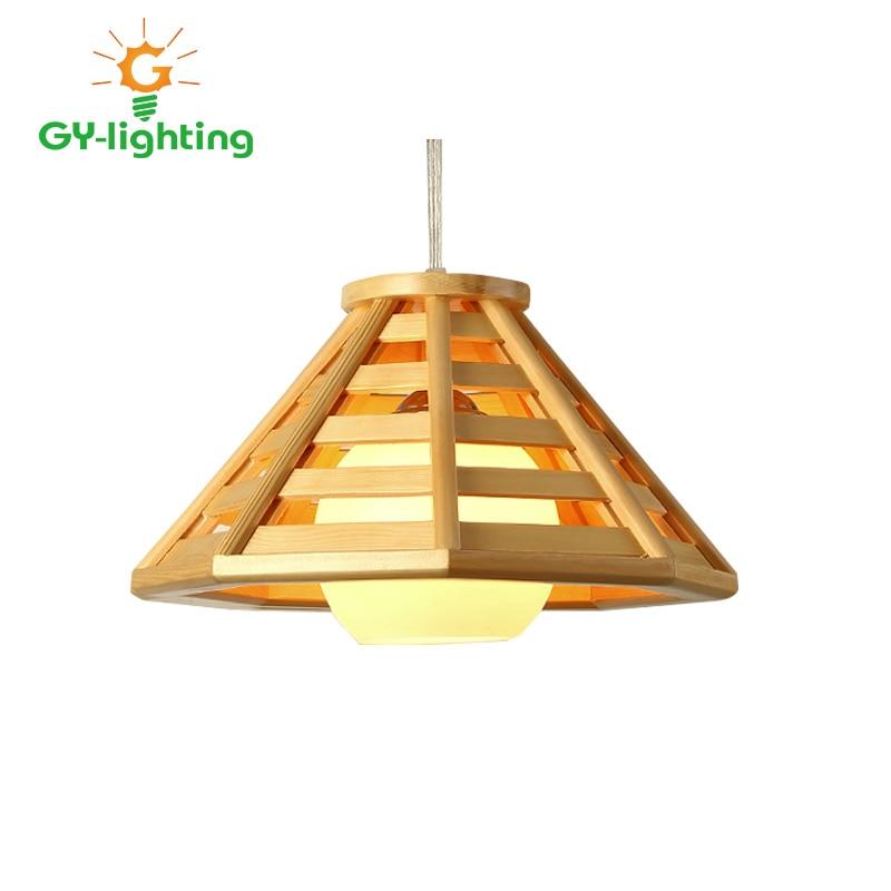 ФОТО Vintage Cord Pendant Lights Wood Modern Style Geometry Wooden Pendant Light Classic Design Home Art Decoration Wood Hanging Lamp