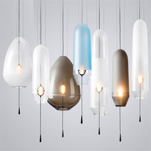 где купить American Glass Ball Pendant Lights Iron Hoop Pendant Lamps Hang Lamp Bedroom Cafe Restaurant Bar Indoor Lighting Fixtures Decor по лучшей цене