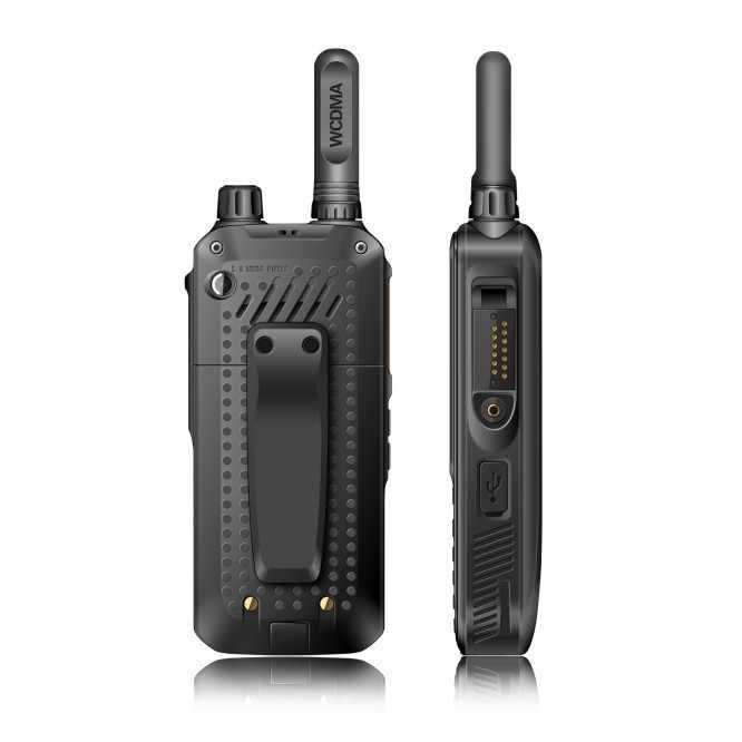 Walkie talkie 50km de la red tarjeta SIM GPS WCDMA wifi GSM Android radio de dos vías Zello PTT teléfono móvil pantalla táctil del teléfono móvil