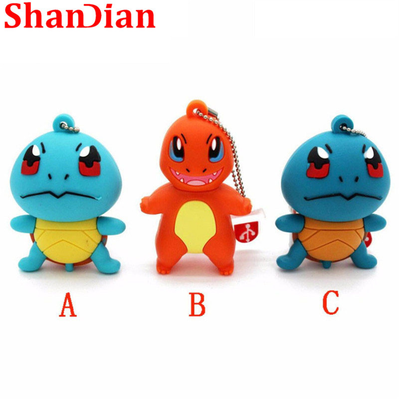 Usb Flash Drives Obliging Shandian Japanese Cartoon Pokemon Pikachu Pendrive 4gb 8gb 16gb 32gb Keychain Cartoon Usb Flash Drive Pendriver Memory Card Gift Highly Polished
