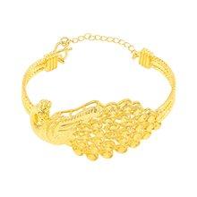 Феникс узорные Свадебные ювелирные изделия Желтое золото Заполненные