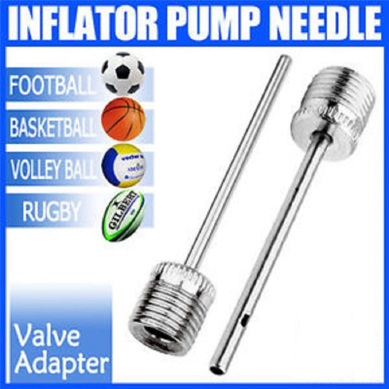 5X Ball Inflating Pump Needle Football//Rugby//Volleyball//Netball Valve Adaptor