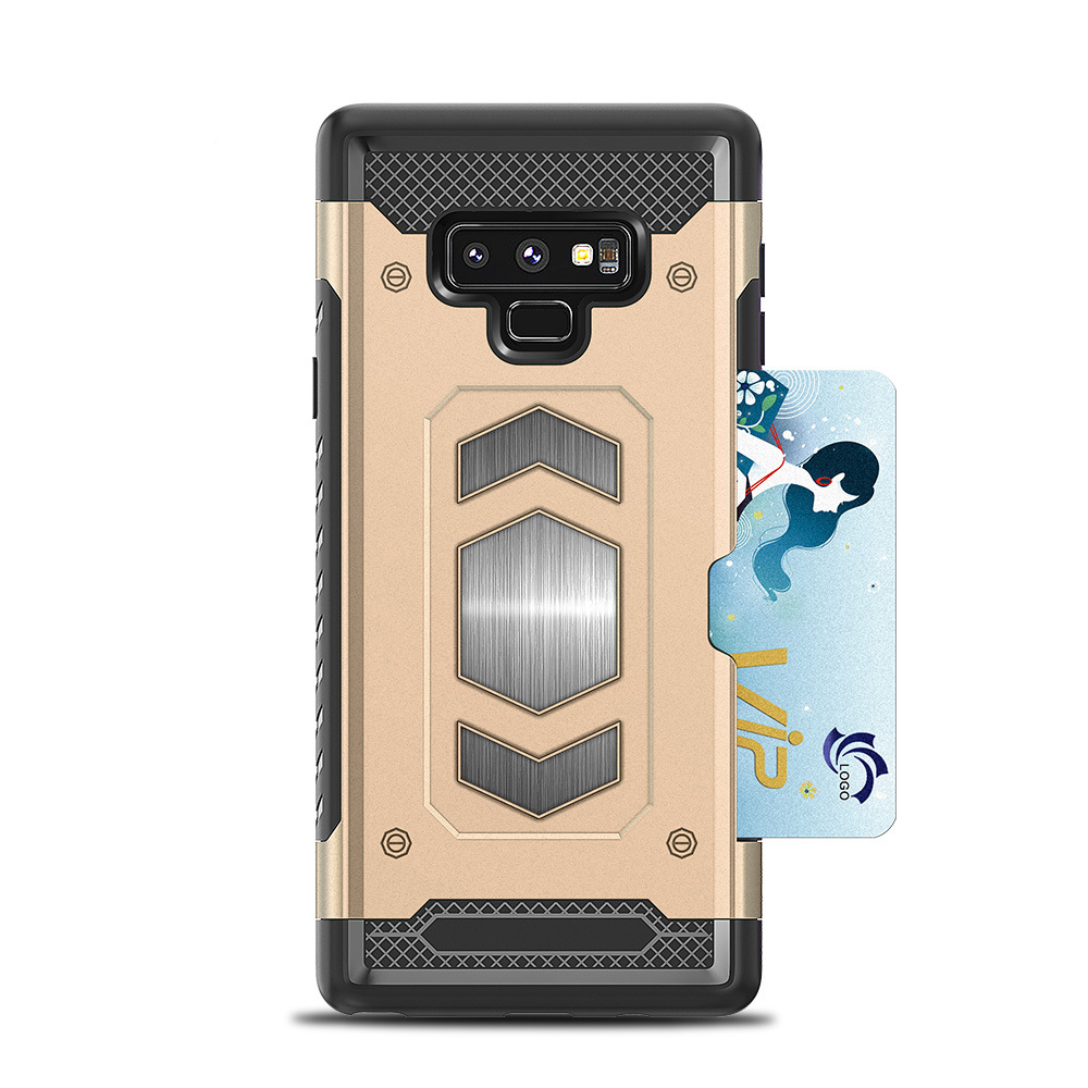 Megnetic Armor Case For Samsung Galaxy Note 9 8 S10 E S9 S8 Plus S7 Edge J3 J337 J7 J737 J8 2018 Case PC+TPU Card Slot Cover