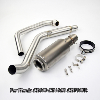Motorcycle Muffler Exhaust System Can Link Pipe Connecting 51mm Exhaust Tail Pipe For Honda CB190 CBF190R CB190R Slip On Modify