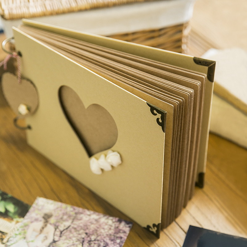 flowers diy album creative hollow love style 10 inch handmade diy photo album baby girlfriend. Black Bedroom Furniture Sets. Home Design Ideas