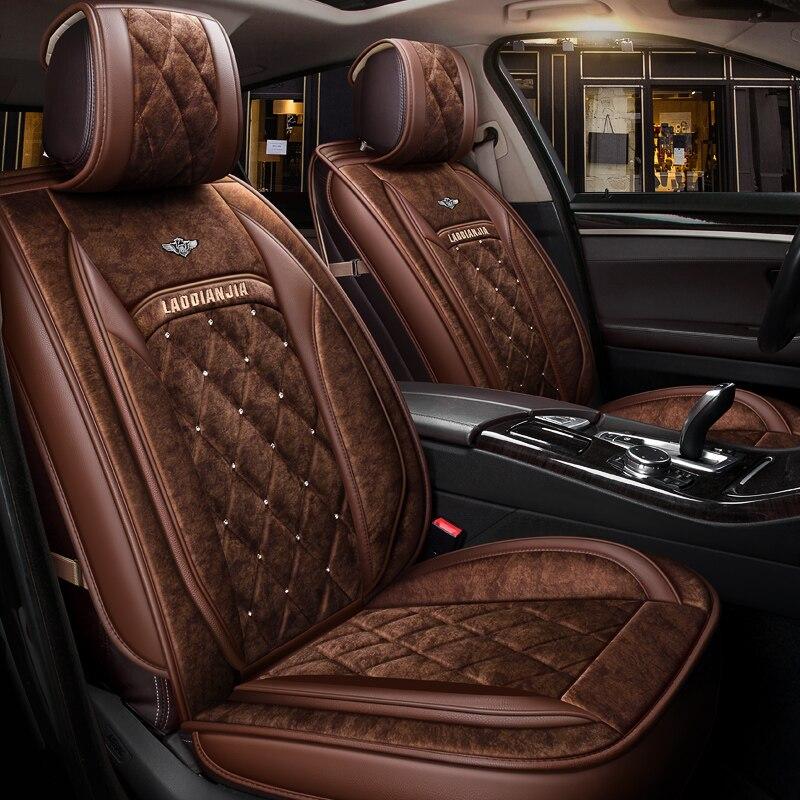 Hiver En Peluche Coussin de Couverture De Siège De Voiture Pour BMW F10 F11 F15 F16 F20 F25 F30 F34 E60 E70 E90 1 3 4 5 7 Série GT X1 X3 X4 X5 X6 SUV