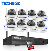 Techege 8CH HD 960P Wireless Camera CCTV System Wireless NVR Vandalproof Dome Camera Home Security System