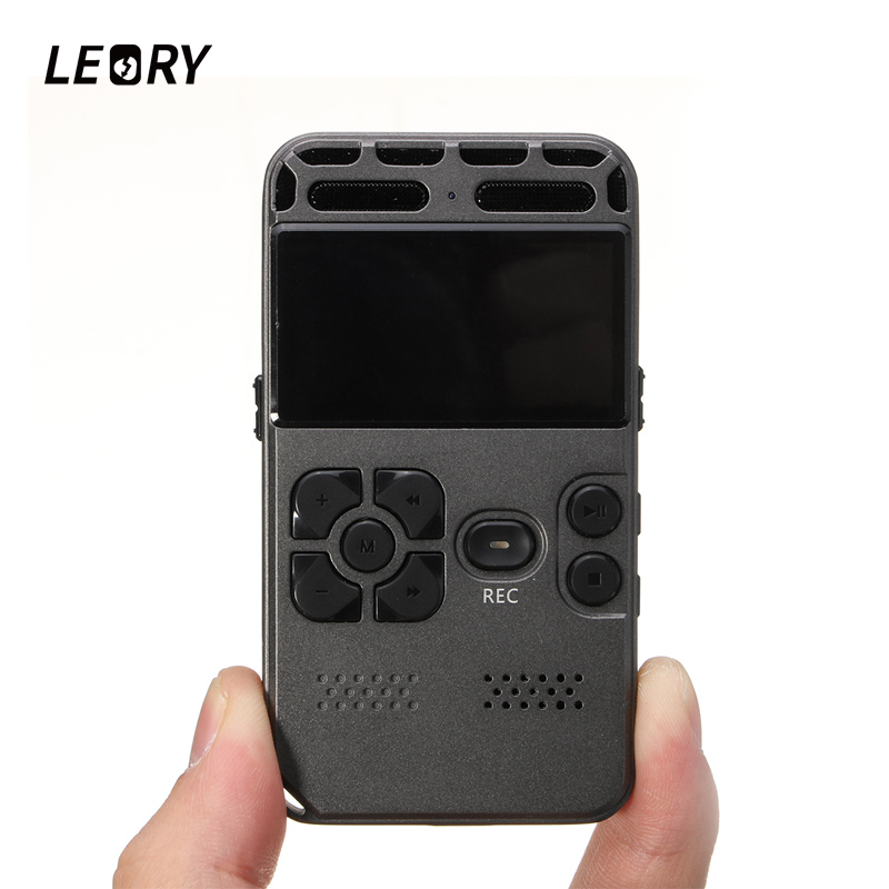 LEORY Professional Mini 8GB Digital Voice Recorder Portable Sound Audio Dictaphone With USB MP3 Player Speaker Support TF Card fashion baby girl t shirt set cotton heart print shirt hole denim cropped trousers casual polka dot children clothing set