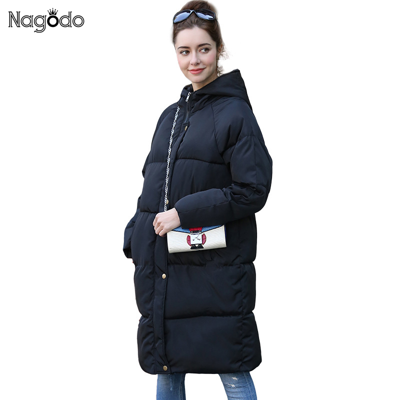 NAGODO  Winter Jacket Women 2017 New Parka Femme Medium-Long Cotton Warm OverCoat High Quality Hood Coat Plus size XXL new winter women lady thicken warm coat hood parka long jacket overcoat outwear