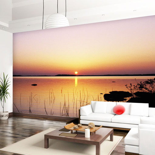 custom wall mural 3D sunset wallpaper sofa TV coffee house study