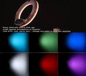 Image 3 - Yidoblo rgb app control ring light led vídeo luz beleza unha pele fotografia estúdio anel lâmpada + tripé + kit de bolsa