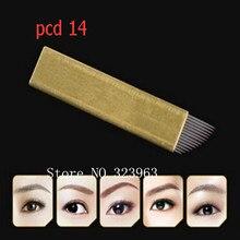 350Pcs Top Quality 14Pin Flat Needles For Manual Cosmetic Tattoo Eyebrow Pen Machine