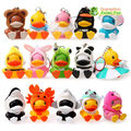Free shipping  luft cute duck toys, C.duck figure for Keychain/Pendant 15pcs/set 4CM Height for xmas gift
