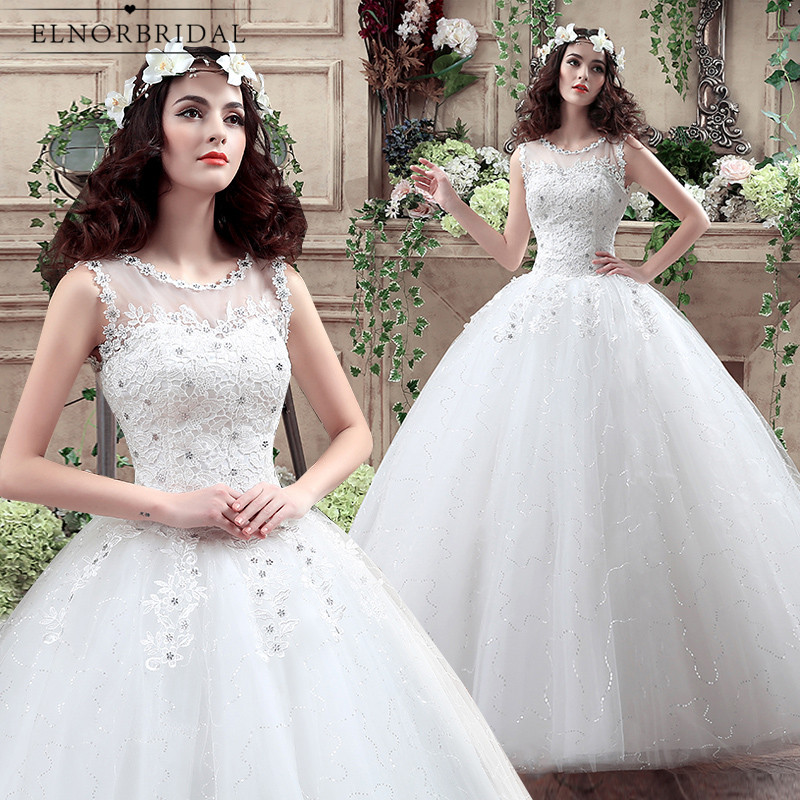 Vintage Lace Ball Gown Wedding Dresses 2018 Vestido De Novia Sheer ...