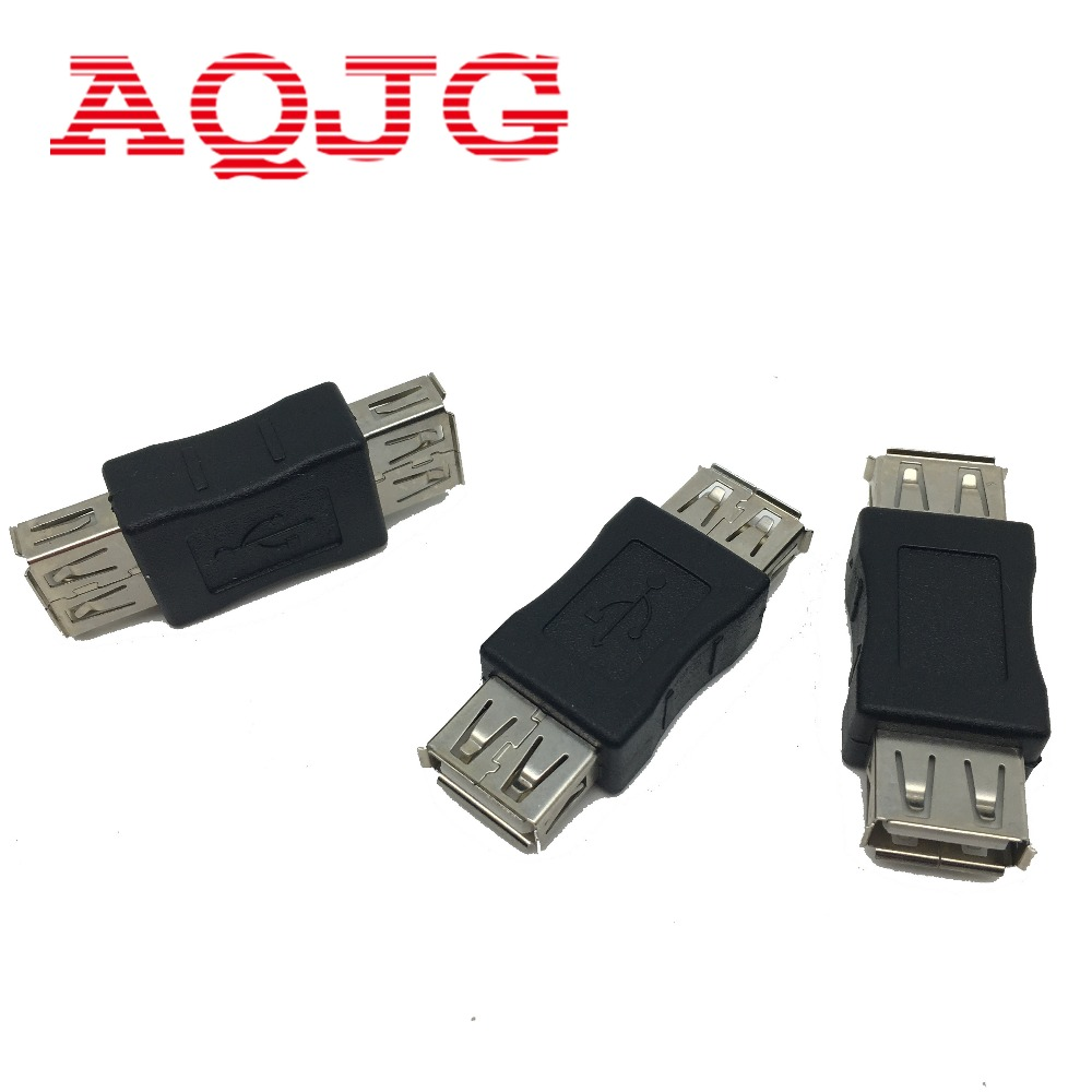 1 pcs USB 2.0 Type A Female to A Female Coupler Adapter Connector F/F Converter Free Shipping Promotion
