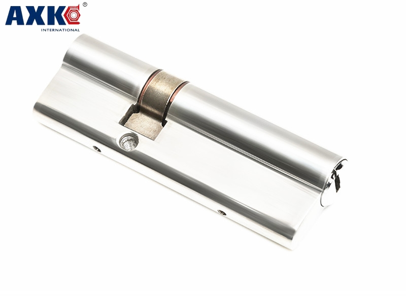 AXK 70mm Super C Grade stainless steel Anti-theft door Lock Core Security Lock Cylinders Key Door Cylinder Lock 8 keys anti theft door lock c grade copper locking cylinder security lock core cylinders key 65mm 110mm door cylinder lock with 6 keys