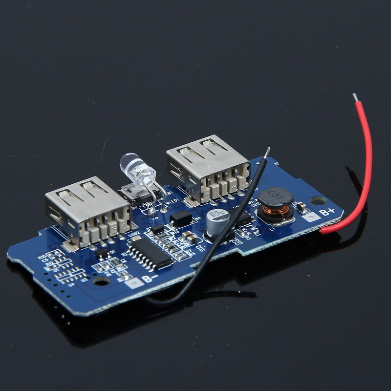 5V 2A Power Bank Circuit Board Portable Power Supply Module Step Up Board Double USB Output For DIY