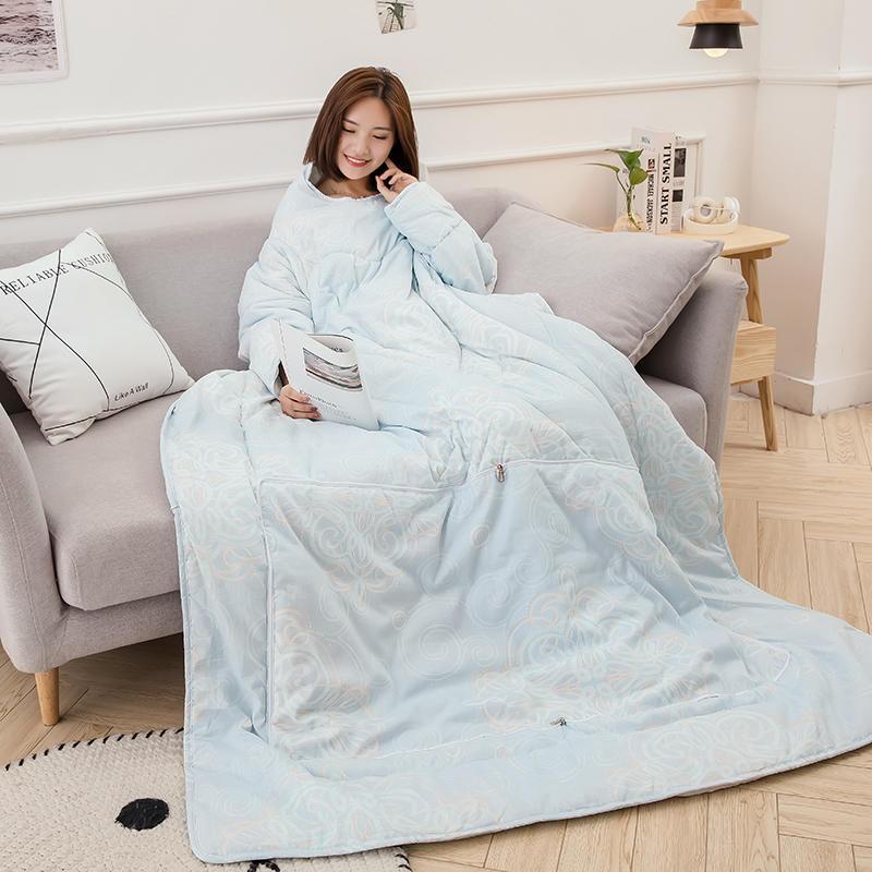 Épaissir édredons paresseux couette avec manches famille couverture Cape Cape Cape sieste couverture dortoir manteau couvert couverture quatre saisons
