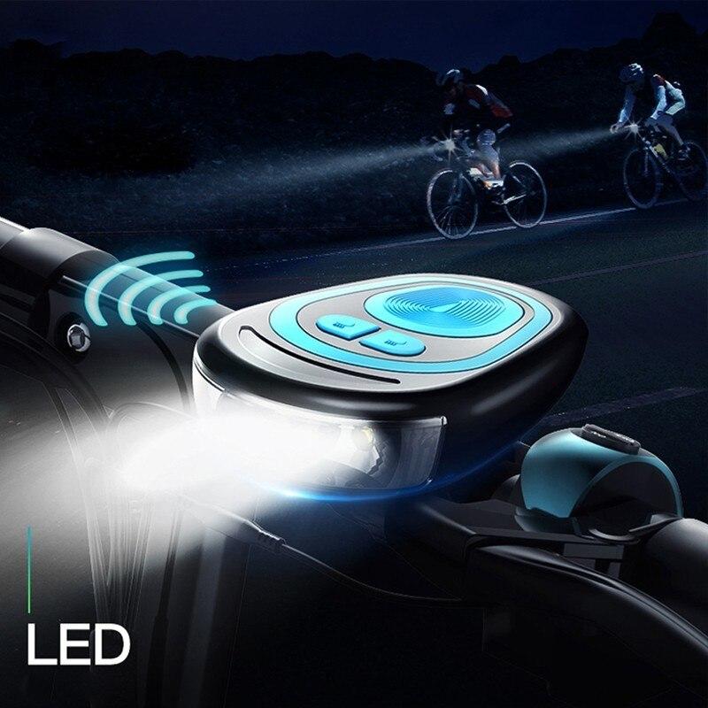 Lohnende Radfahren Taschenlampe für Fahrrad LED Fahrrad Front Licht mit Lautsprecher Wasserdichte Scheinwerfer Wiederaufladbare MTB Zubehör