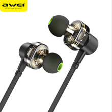 Awei Z2 наушники Bluetooth earphone wired sport Wired Control With Magnetic Metal pllug 3.5mm Earphone
