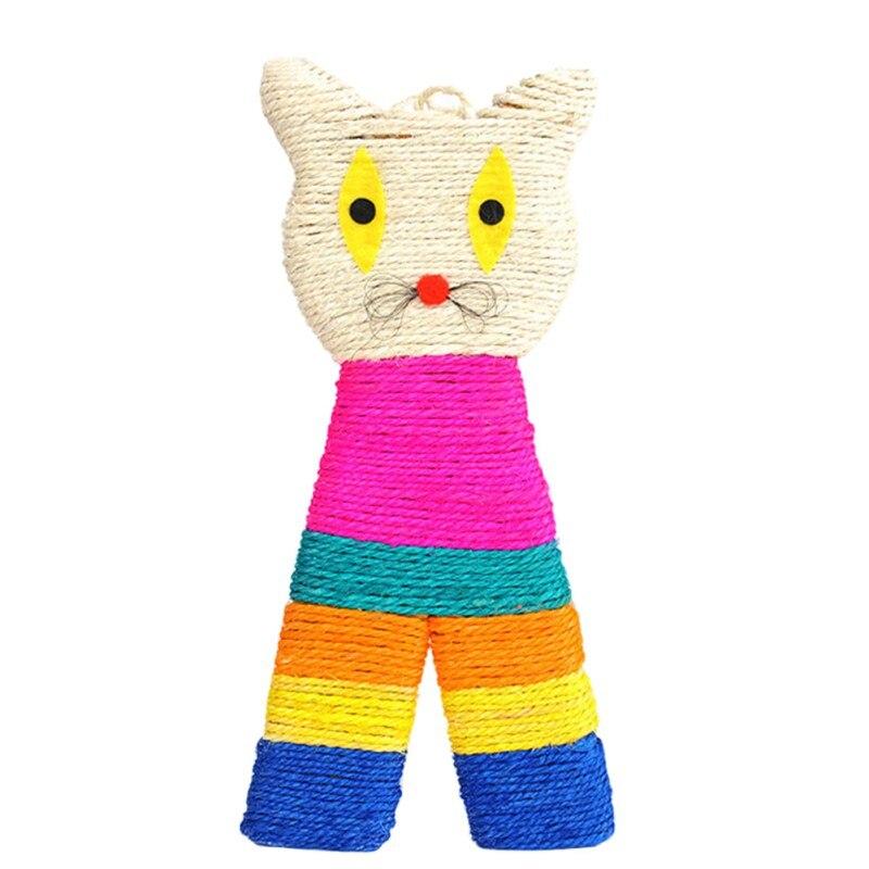 1Pcs Uses Sisal Owl Shape Sisal Cat Scratch Board Cartoon Scratching Post Pet Cats Toys Random Color New