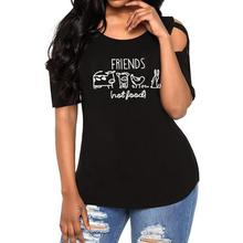 Friends not food women's blouse
