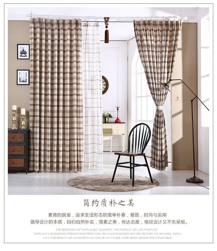 US $36.17 |Il nuovo stile country Americano cotone tinto in filo plaid  tessuto tende camera da letto soggiorno-in Tende da Casa e giardino su ...
