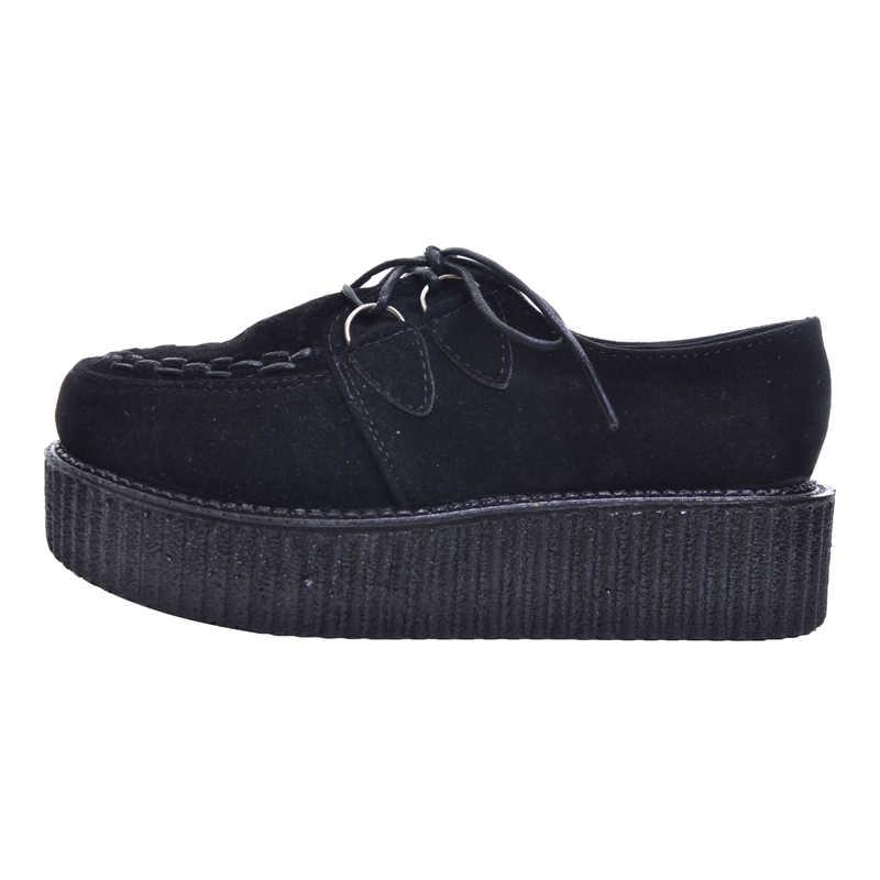 HEE GRAND Vintage Creepers 2017 Mode Frauen Flache Plattform Schuhe Frühling Herbst für Weibliche Großhandel Einzelhandel XWX403