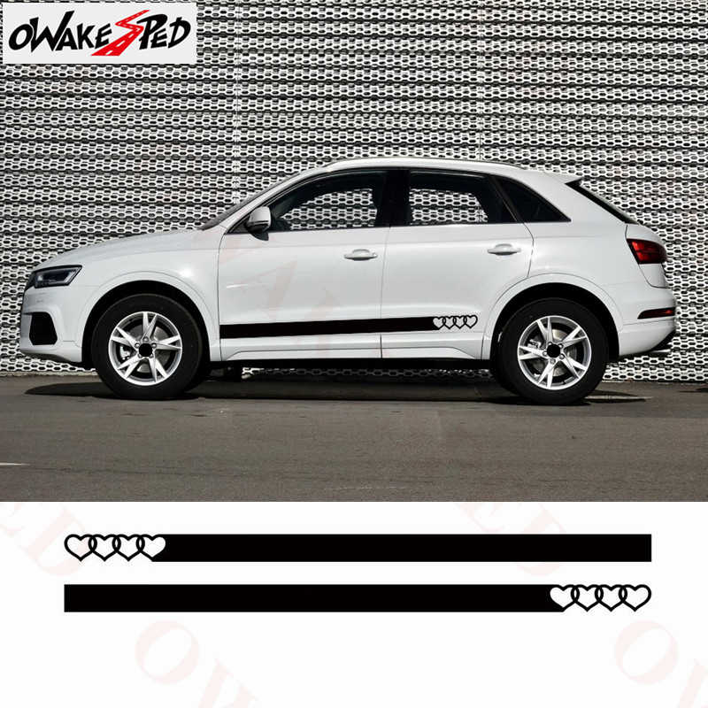 Racing Sport Stripes Car Stickers Auto Door Side Decals Tail