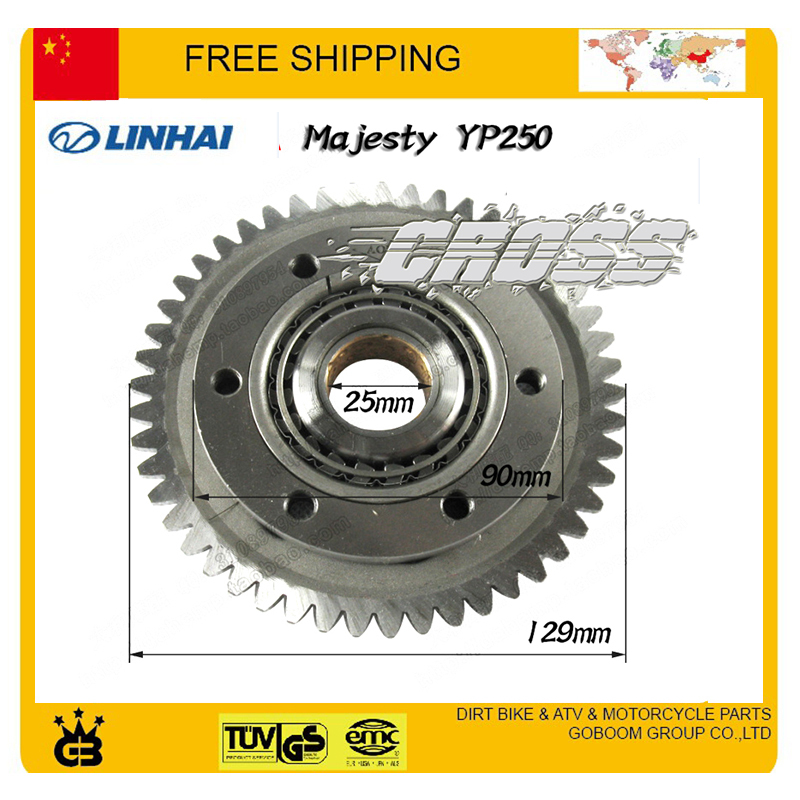 YP250 YP300 250cc 300cc overrunning clutch gear plate linhai LH250 LH300 LH250T-B motorcycle atv quad accessories free shipping motorcycle brake pads for yamaha rz50 tw125 tw200 yp250 yzf600 yzf1000 r1 mbk yp125 yp250 italjet linhai new