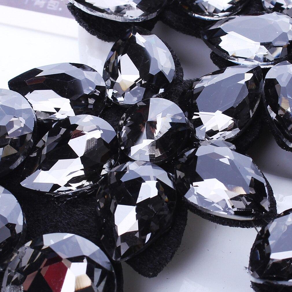 YAZILIND Crystal Flower Pendant Choker Necklace Ribbon Chain Chunky Collar Jewelry Bib Women Colorful 7zWIliAr