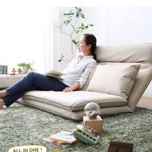Living Room Futon Chair Sofa Bed Furniture Japanese Floor Legless Modern Fashion Leisure Fabric Reclining Futon Sofa Chair Bed