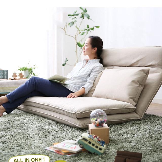 Living Room Futon Chair Sofa Bed Furniture Japanese Floor Legless Modern Fashion Leisure Fabric Reclining