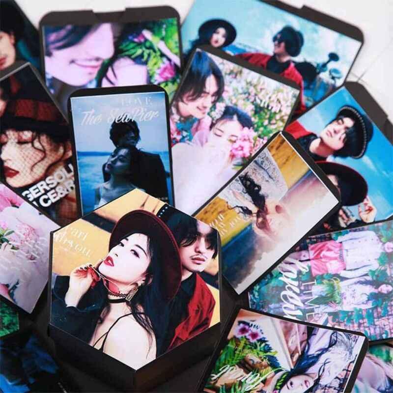 DIY אלבום תמונות בית תפאורה הפתעה אהבה פיצוץ קופסא מתנה ליום נישואים Scrapbook DIY יום הולדת מתנת חתונת אריזת מתנה