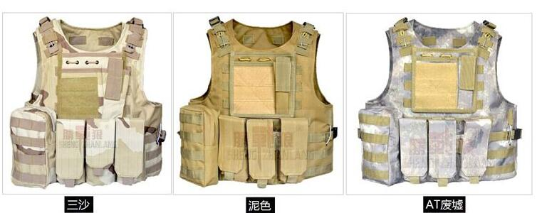 2017 Outdoor Camouflage Tactical Bulletproof Puncture-proof Vests 10 Colours Available